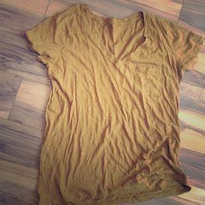 Madewell Mustard T-shirt size Small